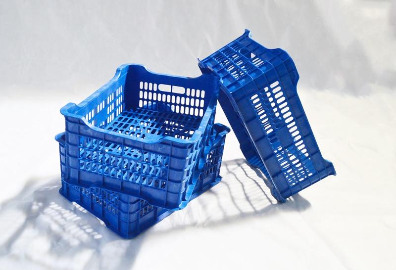 河池蓝色塑料水果筐