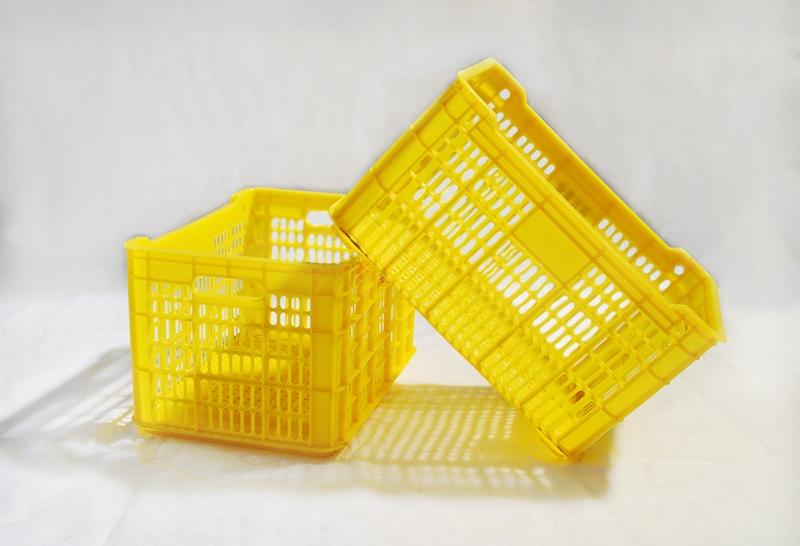河池黄色塑料水果筐